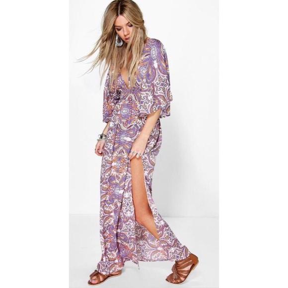 4add387e2b Boohoo Dresses & Skirts - Boohoo kimono beach cover dress 6